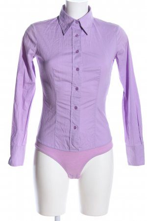 United Colors of Benetton Hemd-Bluse lila Business-Look