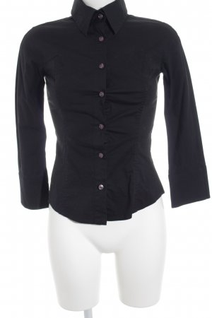 United Colors of Benetton Hemd-Bluse schwarz Business-Look