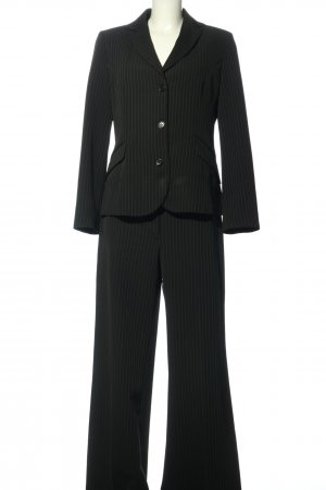 United Colors of Benetton Traje de pantalón negro-gris claro estampado a rayas