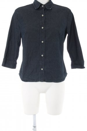United Colors of Benetton Camisa vaquera azul look casual