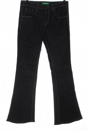 United Colors of Benetton Jeansschlaghose schwarz Casual-Look