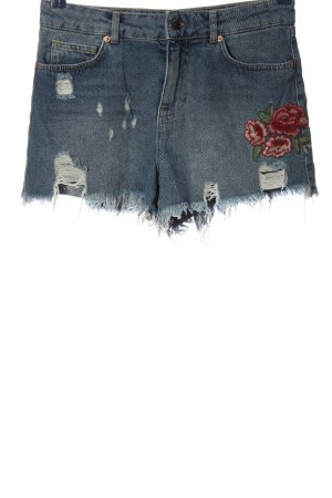 United Colors of Benetton Denim Shorts blue-red street-fashion look