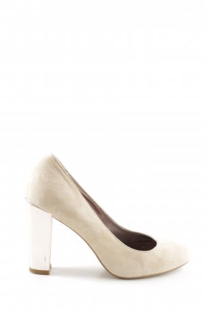 United Colors of Benetton Keil-Pumps creme Casual-Look