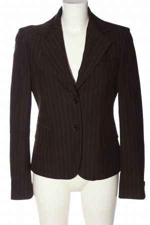United Colors of Benetton Kurz-Blazer schwarz-braun Streifenmuster Casual-Look