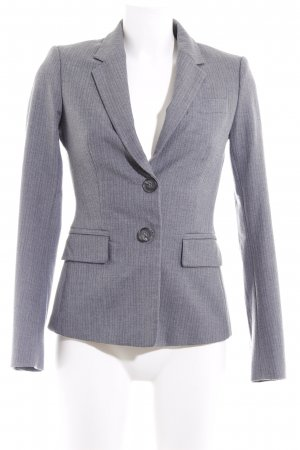 United Colors of Benetton Kurz-Blazer weiß-grau Nadelstreifen Business-Look