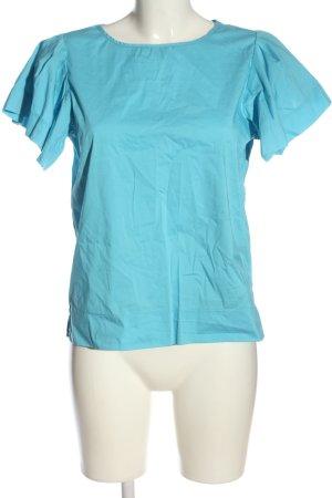 United Colors of Benetton Kurzarm-Bluse blau Casual-Look