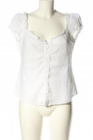 United Colors of Benetton Kurzarm-Bluse weiß Casual-Look
