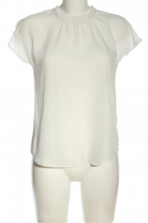United Colors of Benetton Kurzarm-Bluse wollweiß Casual-Look