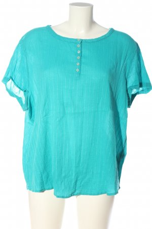 United Colors of Benetton Kurzarm-Bluse türkis Casual-Look