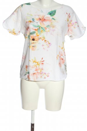 United Colors of Benetton Kurzarm-Bluse Allover-Druck Casual-Look