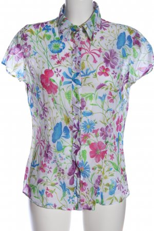 United Colors of Benetton Kurzarm-Bluse abstraktes Muster Elegant