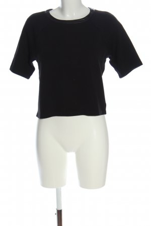 United Colors of Benetton Kurzarm-Bluse schwarz Casual-Look