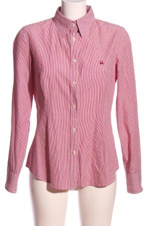 United Colors of Benetton Camicia a maniche corte rosa-bianco caratteri ricamati