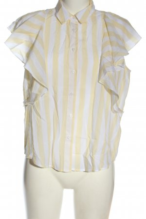 United Colors of Benetton Camisa de manga corta crema-blanco estampado a rayas