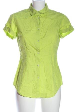 United Colors of Benetton Kurzarmhemd grün Casual-Look