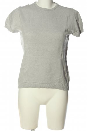 United Colors of Benetton Short Sleeve Sweater light grey flecked casual look