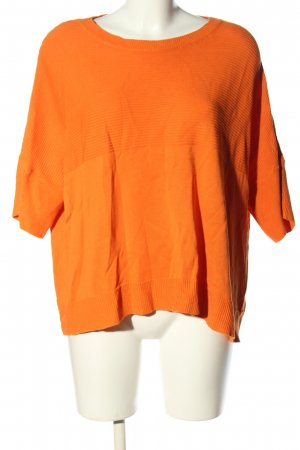 United Colors of Benetton Kurzarmpullover hellorange Casual-Look
