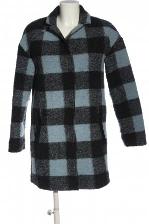 United Colors of Benetton Short Coat black-blue check pattern casual look