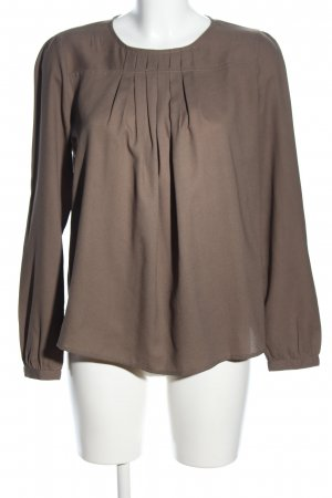 United Colors of Benetton Langarm-Bluse braun Casual-Look