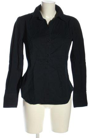 United Colors of Benetton Bluzka z długim rękawem czarny W stylu biznesowym