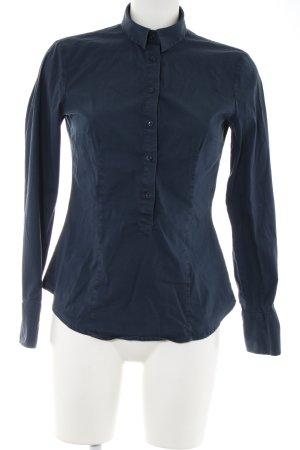 United Colors of Benetton Langarm-Bluse blau Business-Look