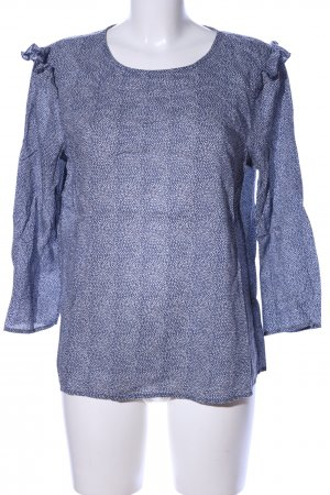United Colors of Benetton Langarm-Bluse blau abstraktes Muster Business-Look