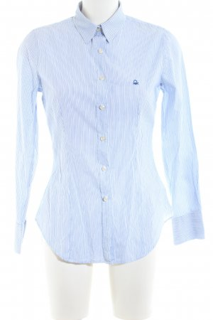United Colors of Benetton Langarm-Bluse blau-weiß Streifenmuster Business-Look