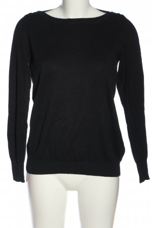 United Colors of Benetton Langarm-Bluse schwarz Casual-Look