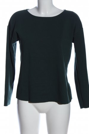 United Colors of Benetton Langarm-Bluse grün Casual-Look