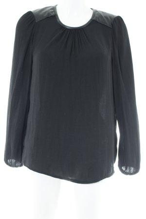 United Colors of Benetton Langarm-Bluse schwarz schlichter Stil