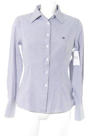 United Colors of Benetton Langarm-Bluse weiß-graublau Streifenmuster