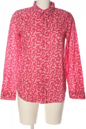 United Colors of Benetton Langarmhemd pink-weiß Allover-Druck Casual-Look