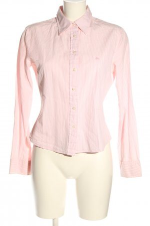 United Colors of Benetton Langarmhemd pink-weiß Streifenmuster Casual-Look