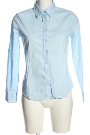 United Colors of Benetton Shirt met lange mouwen blauw zakelijke stijl