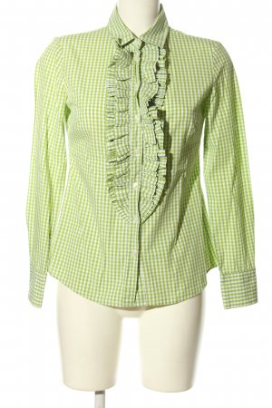 United Colors of Benetton Langarmhemd grün-weiß Karomuster Casual-Look