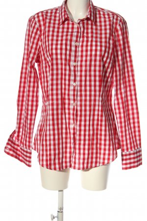 United Colors of Benetton Langarmhemd rot-weiß Karomuster Casual-Look