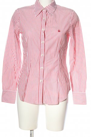 United Colors of Benetton Langarmhemd weiß-rot Streifenmuster Casual-Look