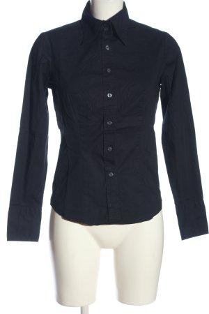United Colors of Benetton Shirt met lange mouwen zwart zakelijke stijl