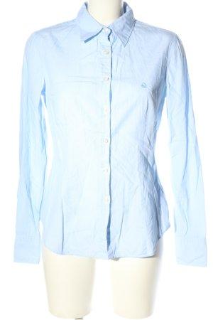 United Colors of Benetton Langarmhemd blau Casual-Look