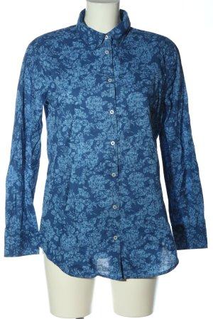 United Colors of Benetton Langarmhemd blau Allover-Druck Business-Look