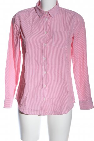 United Colors of Benetton Langarmhemd pink-weiß Streifenmuster Business-Look