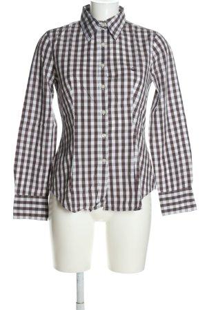 United Colors of Benetton Shirt met lange mouwen bruin-wit geruite print