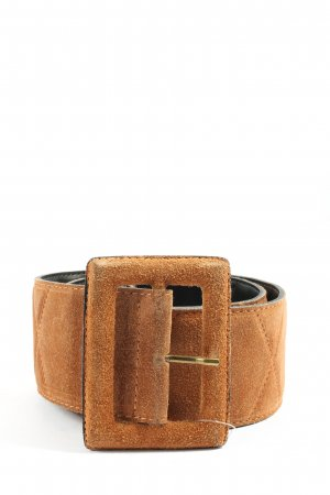 United Colors of Benetton Leather Belt brown quilting pattern casual look