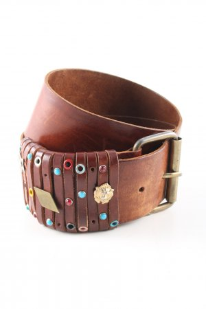 United Colors of Benetton Faux Leather Belt brown casual look