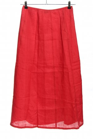 United Colors of Benetton Linnen rok rood casual uitstraling