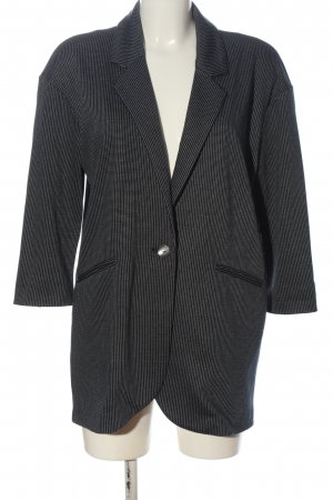 United Colors of Benetton Long-Blazer schwarz-weiß Allover-Druck Business-Look