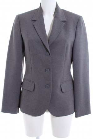 United Colors of Benetton Long-Blazer hellgrau meliert Business-Look