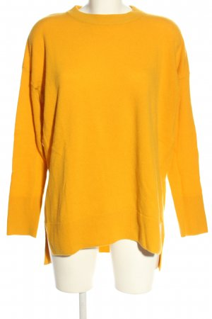 United Colors of Benetton Longpullover hellorange Casual-Look