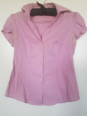 Benetton Sleeveless Blouse light pink-white cotton