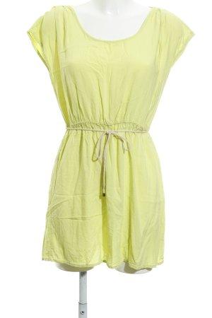 United Colors of Benetton Minikleid limettengelb schlichter Stil